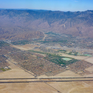 An Aerial view of Palm Springs.