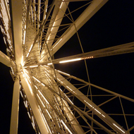 The Ferris Wheel at Navy Pier, Chicago at night.