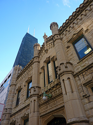 Thumbnail image ofThe Chicago Water Works building in downtown Chicago,...