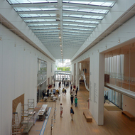 The interior of the addition at the Art Institute of Chicago.