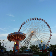 Amusement rides at Navy Pier, Chicago.