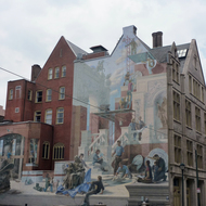 A building mural in Philadelphia.