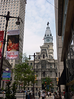 Thumbnail image ofThe Philadelphia City Hall building as seen from...