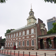 Independence Hall in Philadelphia, where the U.S. Constitution was drafted.
