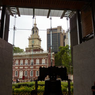 Independence Hall from the Liberty Bell Center.