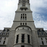 The tower of the Philadelphia City Hall.