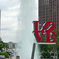 JFK Plaza (also known as Love Park) in Philadelphia, PA. Fountains
