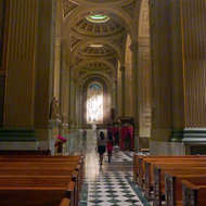 The interior of the Cathedral Basilica of Saints Peter and Paul in Philadelphia.