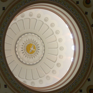 Ceiling detail of the Baltimore Basilica of the National Shrine of the Assumption of the Virgin Mary, America's first cathedral.