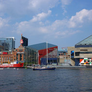 The Baltimore Inner Harbor.