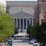 The National Archives as viewed from the National Portrait Gallery.