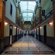 The interior of the National Portrait Gallery.