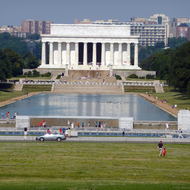 The Lincoln Memorial and reflecting pool.