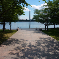 The Washington Monument as seen from the Franklin D. Roosevelt Memvorial.