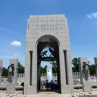 The Pacific Theatre portal of the World War II Memorial.