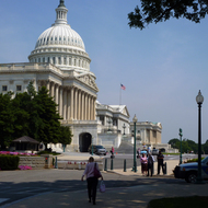 The US Capitol Building at the rear.