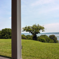 A view from the porch of Mount Vernon of the Potomac River.