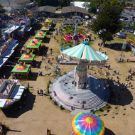 A view from the Ferris Wheel at the Sonoma County Fair, California.