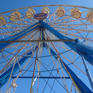 A Ferris Wheel at the Sonoma County Fair, California.