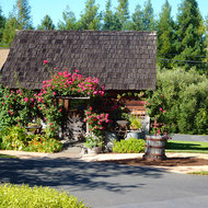 The tasting room at the Husch Winery in Mendocino County, California.