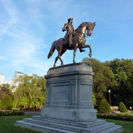 The statue of George Washington on the Boston Common.