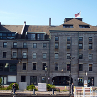 The Boston Custom House Block on Long Wharf.