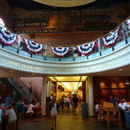 An interior view of the Quincy Market in Boston.