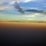 Sunset while flying.