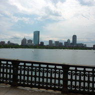 A view of the Charles River and Boston.