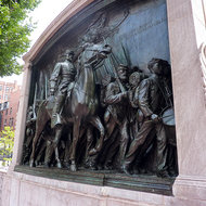 The Robert Gould Shaw memorial in Boston.