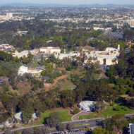 Balboa Park in San Diego from a commercial jet.