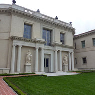 A view of the Huntington Library, Art Collections, and Botanical Gardens in Pasadena, California.