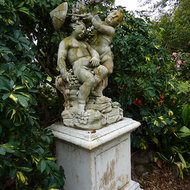 One of many sculptures at the Huntington Library, Art Collections, and Botanical Gardens in Pasadena, California.