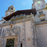 An outside shot of Hearst's Castle.