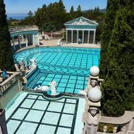 The main pool at Hearst's Castle in California.
