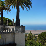 A view of the Pacific Ocean from Hearst's Castle in central California.