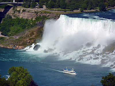 """Thumbnail image ofThe """"Maid of the Mist"""" steaming past the American..."""