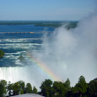Horseshoe Falls from the Hilton Niagara Falls.