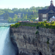The Canadian overlook at Horseshoe Falls, Niagara Falls.