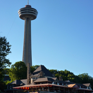 The Skylon Tower on the Canadian side of Niagara Falls.