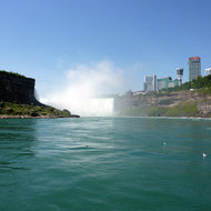 A view of Horseshoe Falls from the Maid of the Mist.