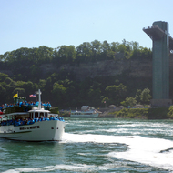 The Maid of the Mist below the American observation tower.