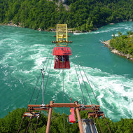 The Aero Car at the Niagara Whirlpool on the Niagara River below Niagara Falls.