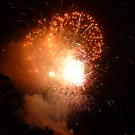 Fireworks in Sonoma, California on the Fourth of July.