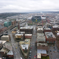 CenturyLink Field from the top of the Smith Tower.