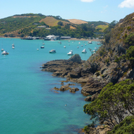 Matiata Bay on Waiheke Island outside Auckland, New Zealand.