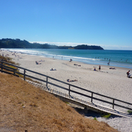 Onetangi Beach on Waiheke Island outside Auckland, New Zealand.