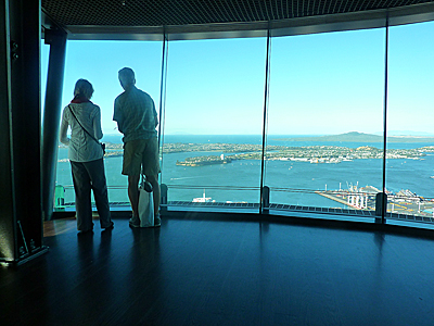 Thumbnail image ofA view of Auckland and it's bay from the Sky Tower.