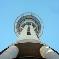 The Sky Tower in Auckland, New Zealand.