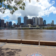Downtown Brisbane along the Brisbane River.